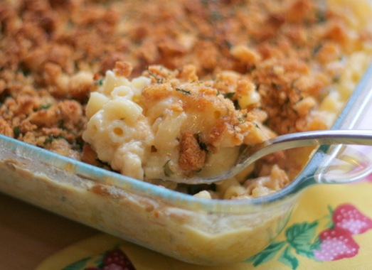 Macaroni, cheese, bacon, etc.
