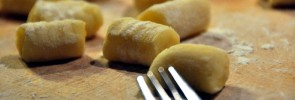 Homemade gnocchi with imprints