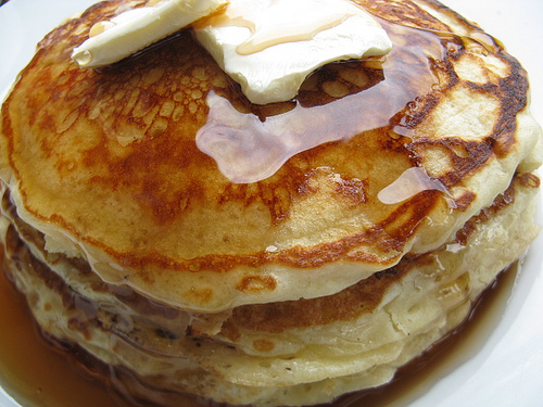 Homemade pancakes from scratch